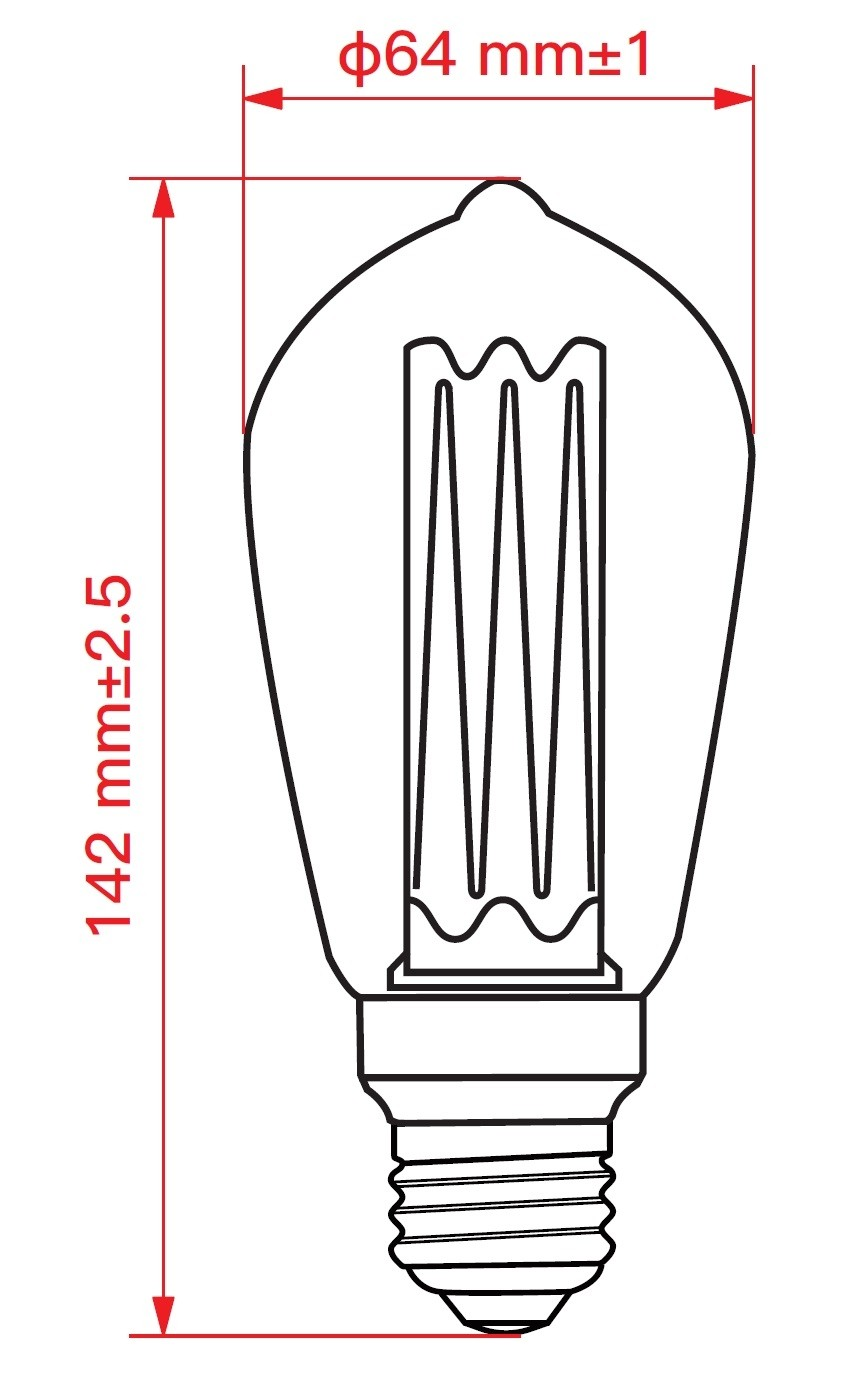 LAMPADINA A LED DECO ST64 DIMMERABILE 3,5W E27 1800K GOLD