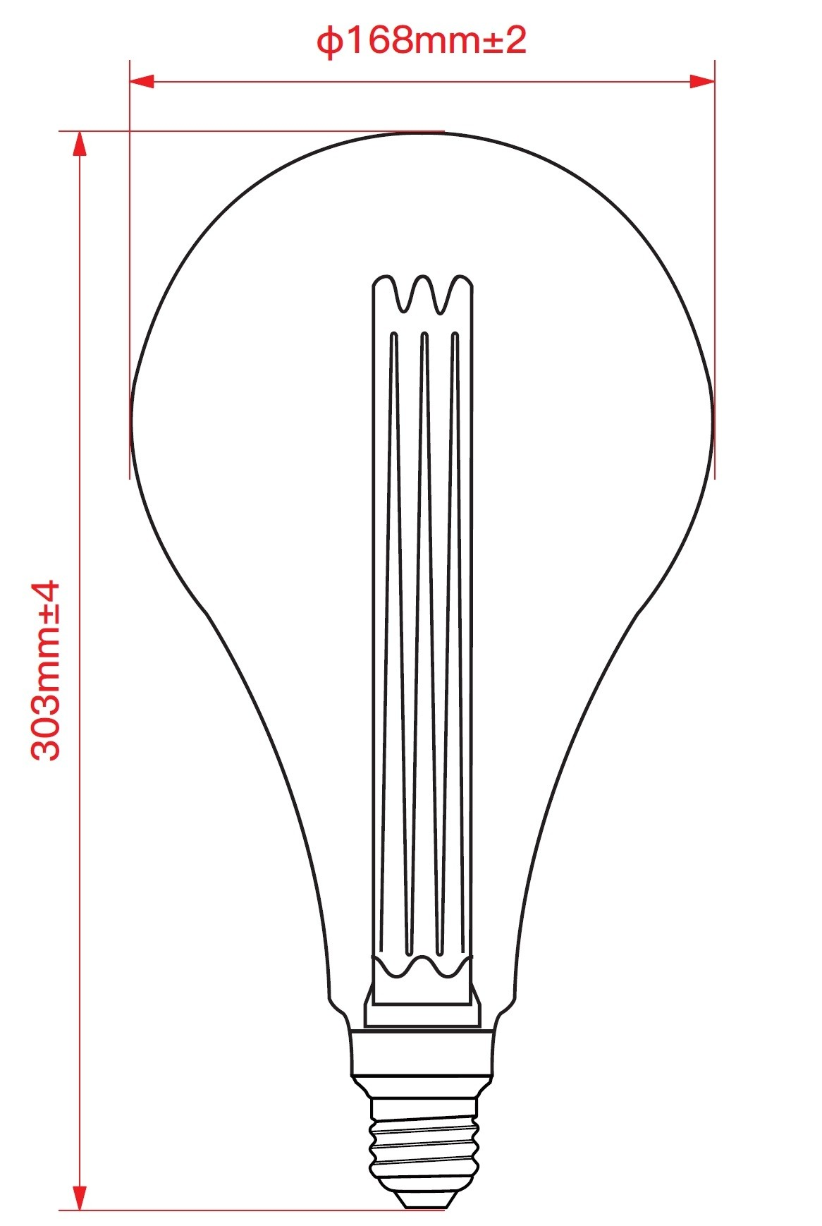 LAMPADINA A LED DECO PS165 DIMMERABILE 3,5W E27 1800K GOLD