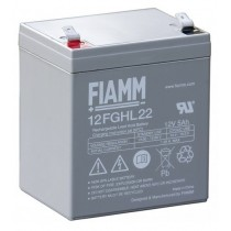 BATTERIA FIAMM RICARICABILE AL PIOMBO SERIE FGHL - HIGH RATE LONG LIFE 12V 5.0Ah