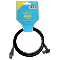 CATV CABLE 75 OHM SPINA-PRESA 90° 9.5MM NERO 1.5mt