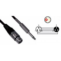 MICROPHONE CABLE PRESA XLR/SPINA JACK 6.35 MONO 5mt - ASSICURA UNA STABILE CONNESSIONE